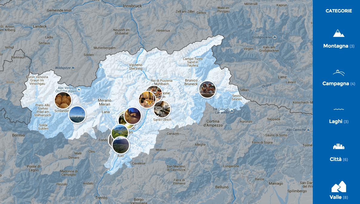 Mappa dal blog http://www.bookingaltoadige.com/blog