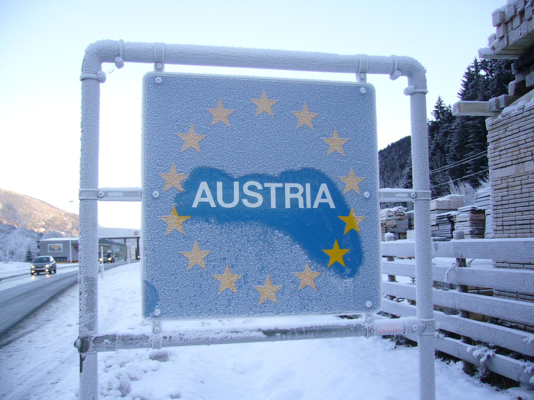 Confine con l'Austria al Brennero
