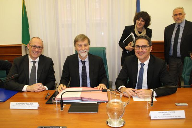 Rossi, Delrio e Kompatscher