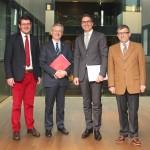 Martin Ausserdorfer, Michl Ebner, Arno Kompatscher, Raffaele Zurlo