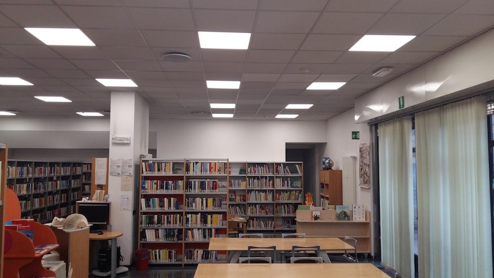 Led alla Biblioteca Europa di Bolzano