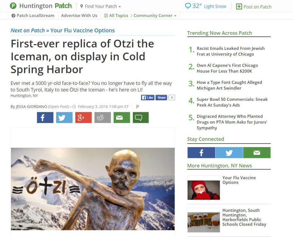 Ötzi nella rassegna stampa estera dell'Alto Adige