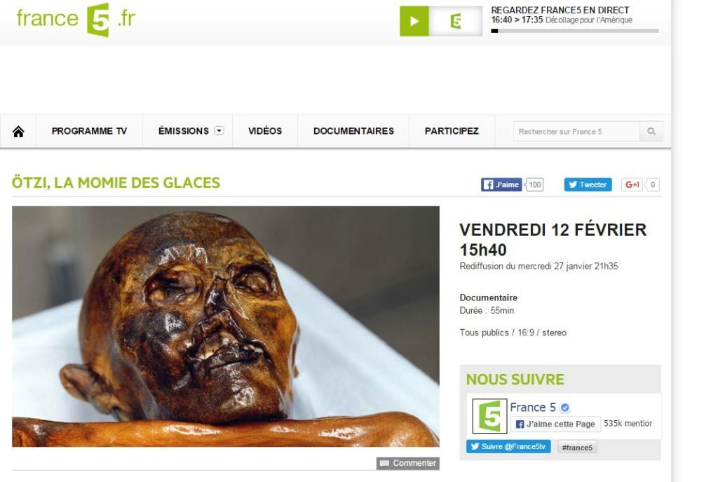 Ötzi su France 5