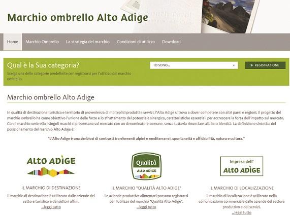 marchio ombrello Alto Adige