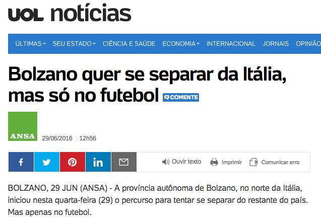 la nazionale di calcio sudtirolese