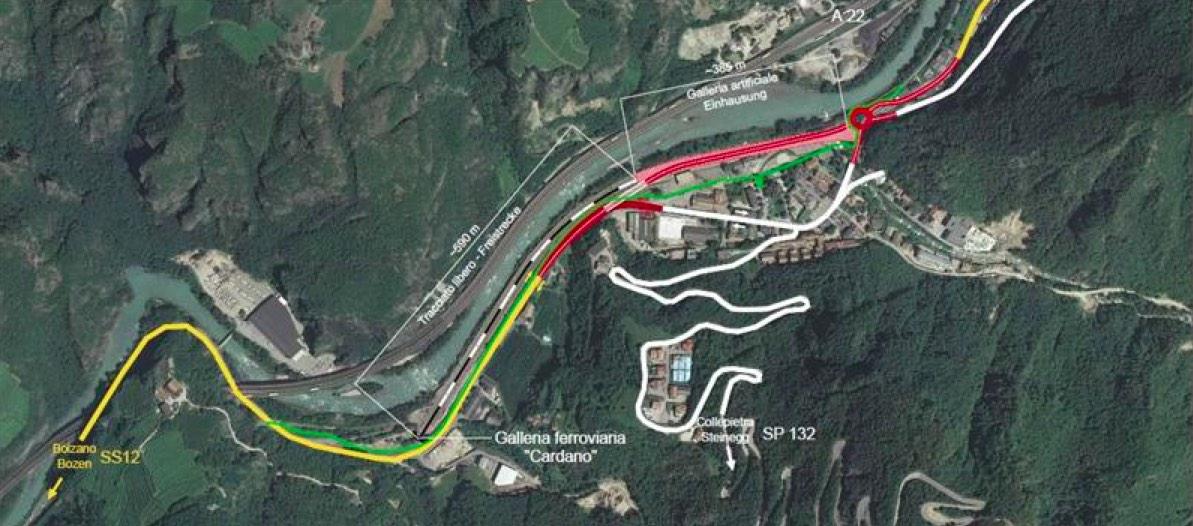 Il progetto per la circonvallazione di Prato Isarco