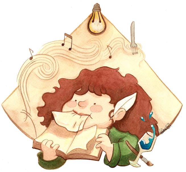 L'illustrazione di Valentina Stecchi realizzata durante la serata