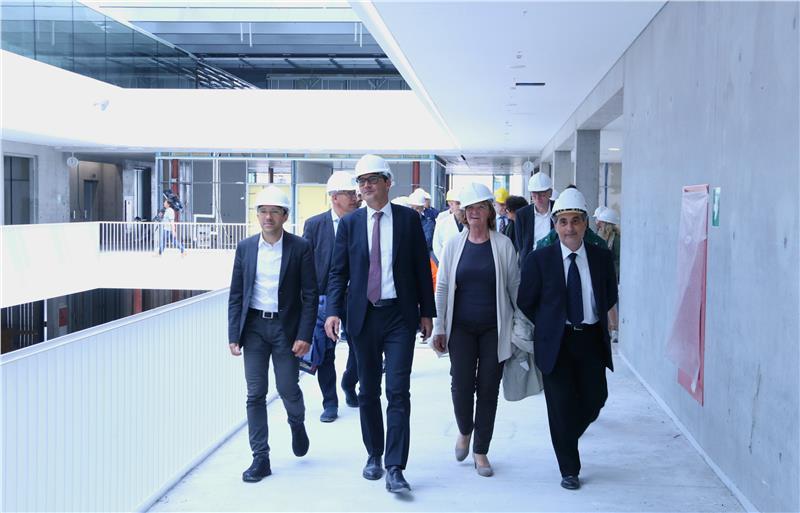 Da sinistra Tommasini, Kompatscher, Stocker e Cramarossa