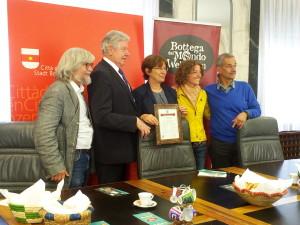 (da sinistra) Rudi Dalvai, Renzo Caramaschi, Marialaura Lorenzini, Brigitte Gritsch e Helmut Bachmayer