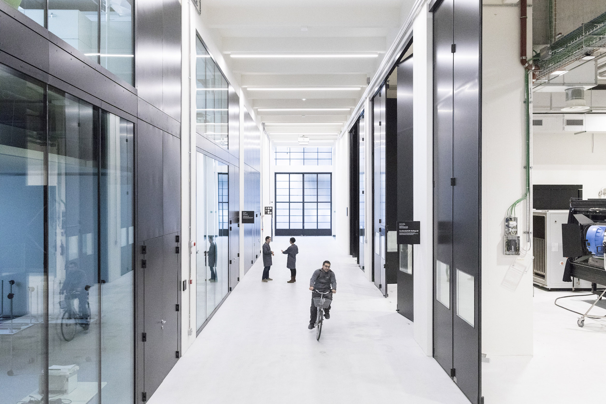 2017, NOI TECHPARK BOLZANO. I laboratori per le energie rinnovabili di Eurac Research, uno dei principali istituti di ricerca che è entrato a far parte della rete del NOI. Infrastrutture d'avanguardia, come la camera che simula tutti i climi della Terra o le riproduzioni realistiche di sistemi edilizi. © FABRIZIOGIRALDI