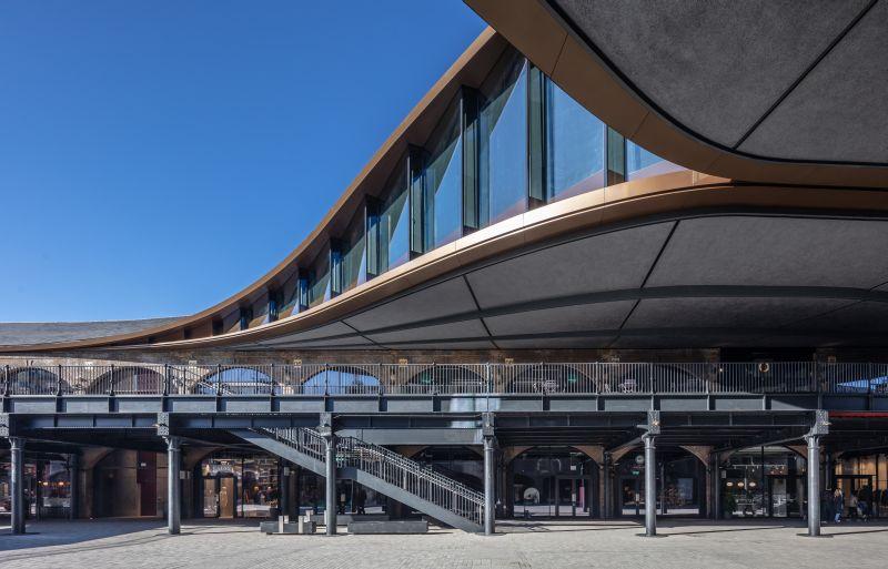 Coal Drops Yard, King's Cross, London. Architect: Heatherwick Studio. Facade and glazing by Frener & Reifer.