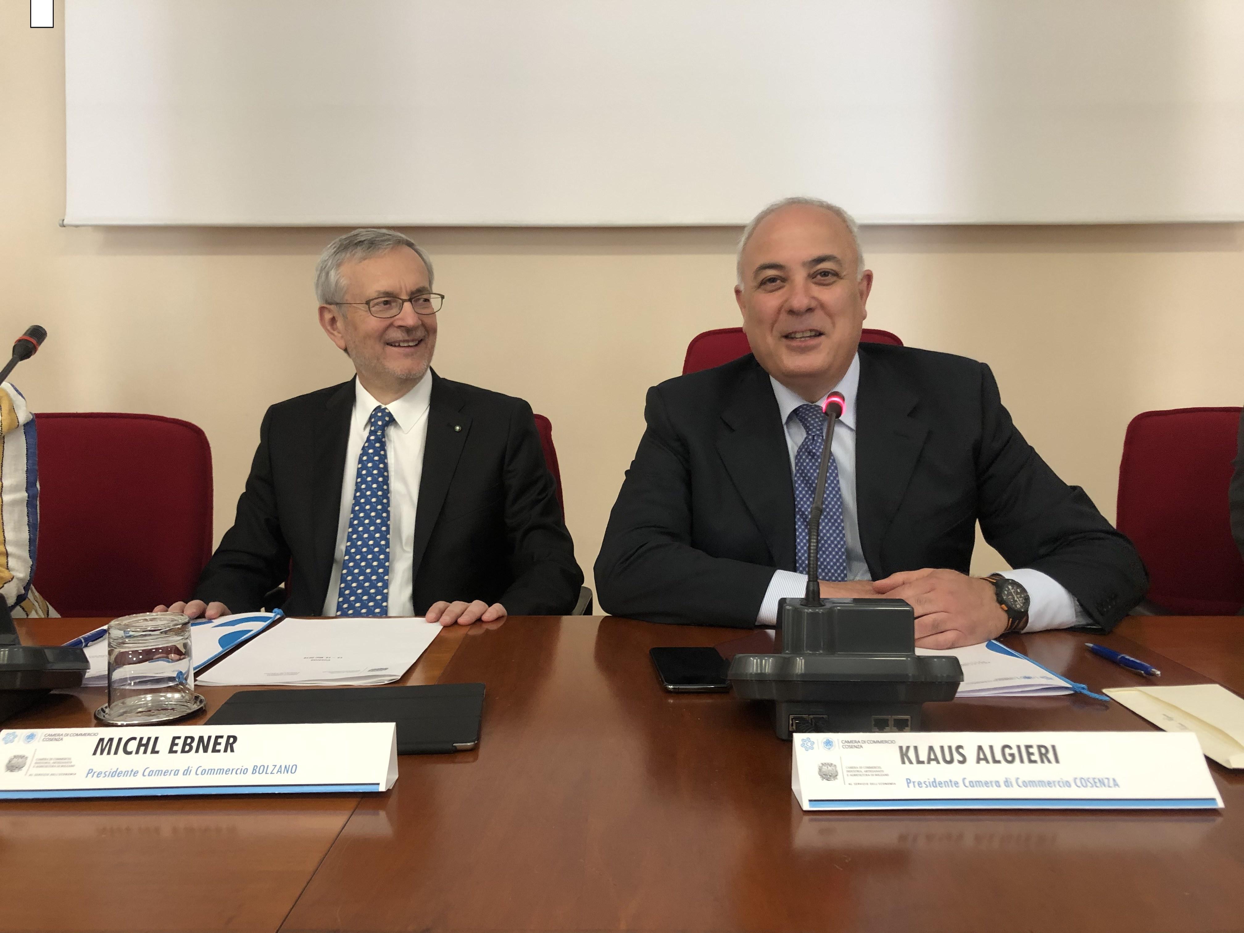 Da sinistra Michl Ebner e Klaus Algieri (c) hk Cosenza (1)