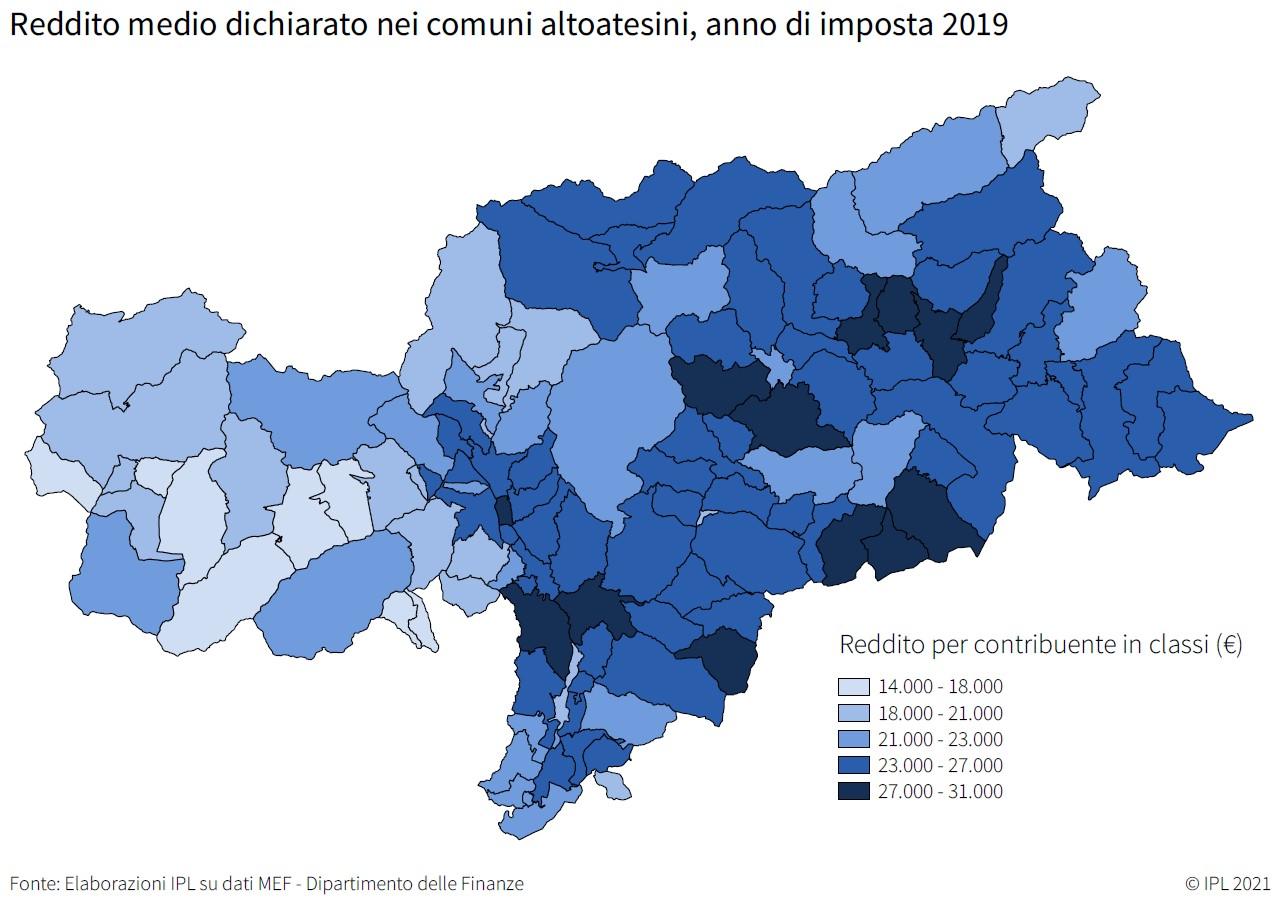 Distribuzione reddito Bolzano