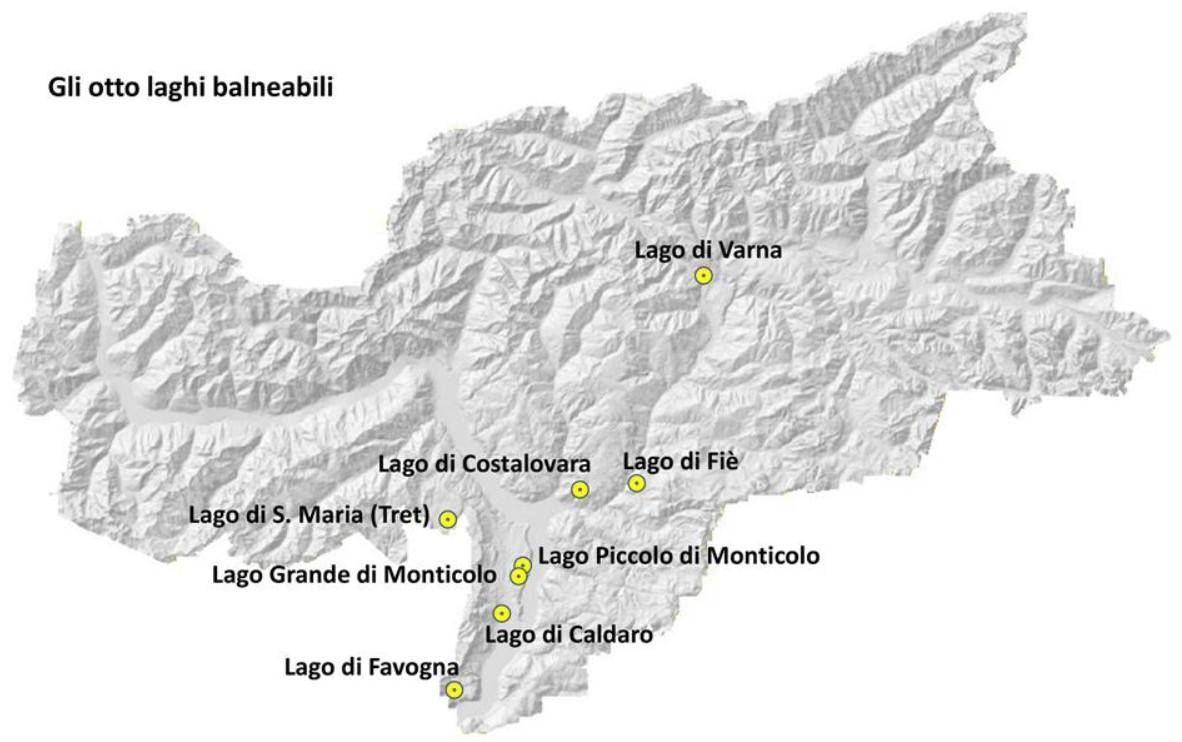 Laghi balneabili Alto Adige