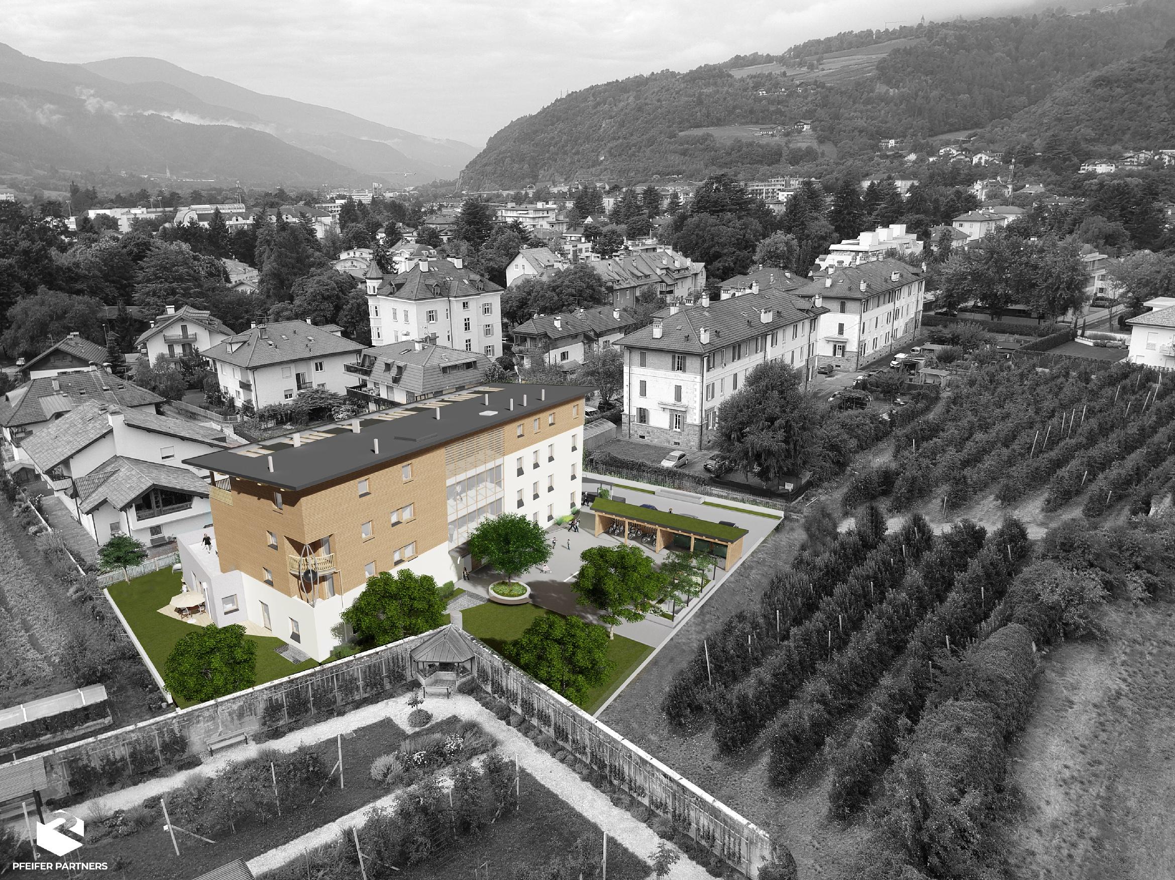 edificio legno Bressanone